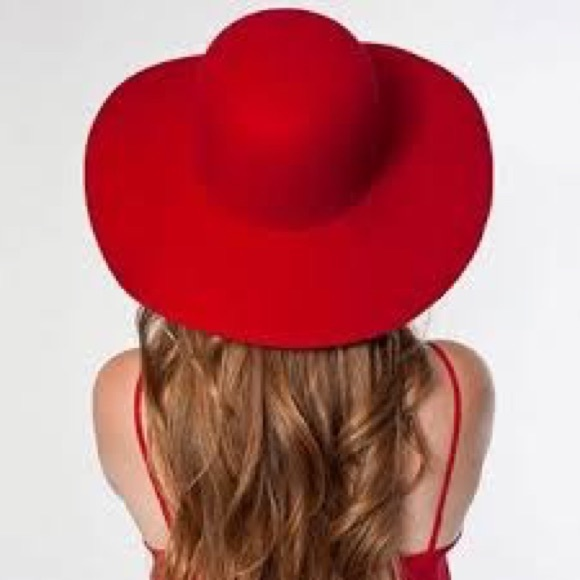 ff75715a American Apparel Accessories | Wool Floppy Hat Red New | Poshmark